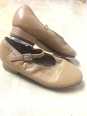 Girls Tap Shoes By 'Jazzies'. Size 13.5 Leather Upper Great Preloved Condition