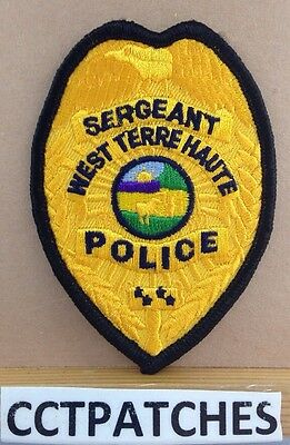 West Terre Haute, Indiana Sergeant Police Badge Shoulder Patch In