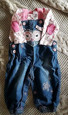 size 00, 3-6 months  baby girl jumpsuit set - Exc condition