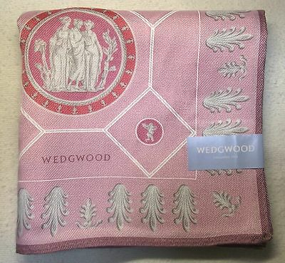 "WEDGWOOD muse pink silk blended handkerchief 59x59cm(23.23"") made in Japan"