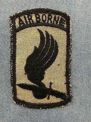 Original VN Theater Made 173rd Airborne Brigade Twill Patch, In-country Made