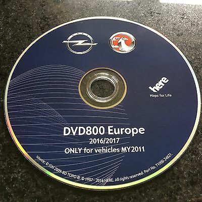 2017 Vauxhall/Opel DVD800 CD500 MY2011 DVD sat nav map update disc Insignia