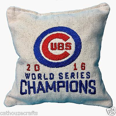 Custom Embroidered Aca Regulation Corn Hole Bags Set Of 4 Chicago Cubs 2016