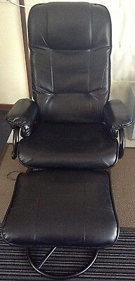 Massage Chair - With Ottoman, Remote Control & Heated Seat