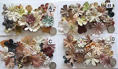 No 446 Scrapbooking - 18 Prima Paper Flowers - 4 Different Packs Available