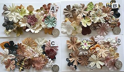 Scrapbooking No 446 - 18 Prima Paper Flowers - 4 Different Packs Available