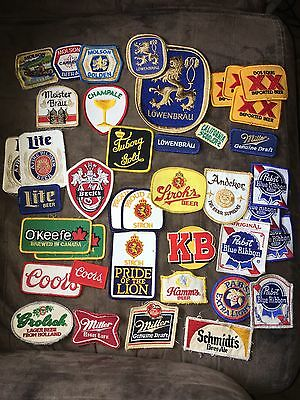 Vintage Beer Patches Lot Hamm's Stroh Pabst Champale Meister Brau Molson KB Lite