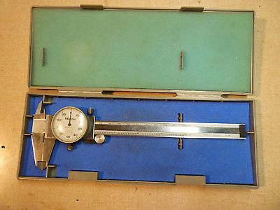 Mitutoyo 6 Inch Dial Caliper Model 505-637-50 inside outside with case