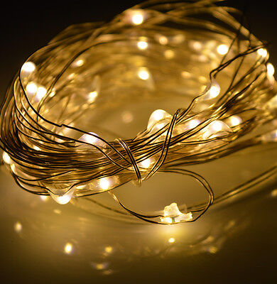 5M Warm White Flexible Copper Wire String Fairy Party XMAS Wedding Lights Light