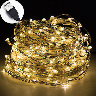 33ft 100 LED String Lights for Bedroom Patio Garden Gate Yard Party