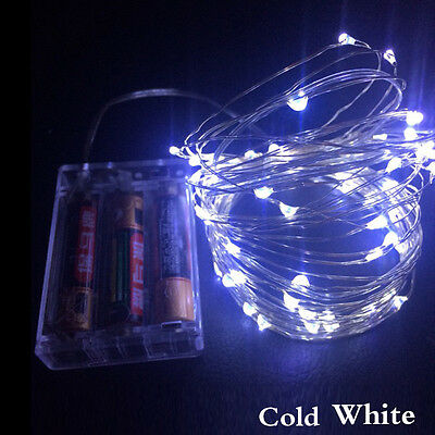 5M 50 LED String Copper Wire Fairy Lights Battery Powered Waterproof Decoration