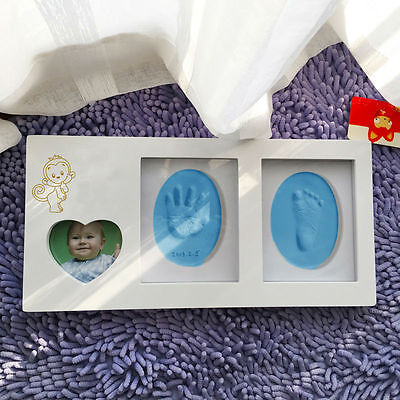 Blue Air Drying Soft Clay Baby Handprint Footprint Casting Fingerprint Ink Cute