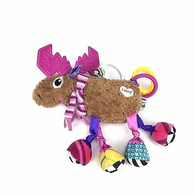Lamaze Moose Infant Baby Stroller Crib  Teether Development Plush Stuffed Toy