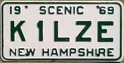 New Hampshire NH 1969 Amateur HAM RADIO license plate K1LZE