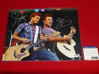 country stars LOVE and THEFT  signed PSA/DNA 11X14 photo