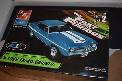 AMT ERTL The Fast And The Furious 1969 Yenko Camaro 1:25 Scale - SEALED  new