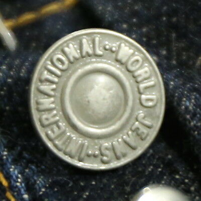 Vintage Denim Jeans Overall Nickel Brass Tack Button Rivet Union Made YKK Japan