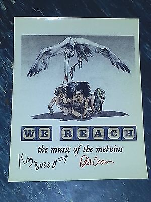 Melvins We Reach Mini-Poster Autographed  Buzzo & Dale