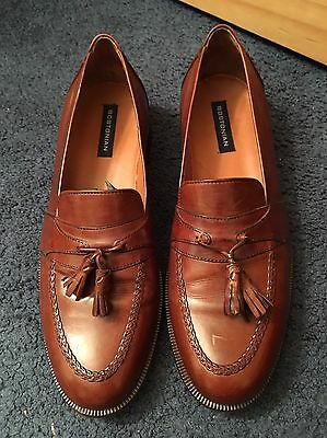 Men's Bostonian Brown Loafers Tassel Dress Shoes Size 10 M