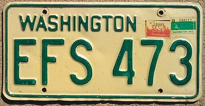 Washington Wash (1971) 1972-1973  license plate EFS-473