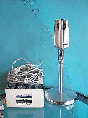 Vintage 1960's Piezo dynamic microphone DX-62 deco old used Japanese # 2