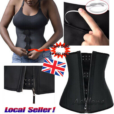 Zipper Body Shaper Magic Waist Trainer Underbust Corsets for Weight Loss Cincher