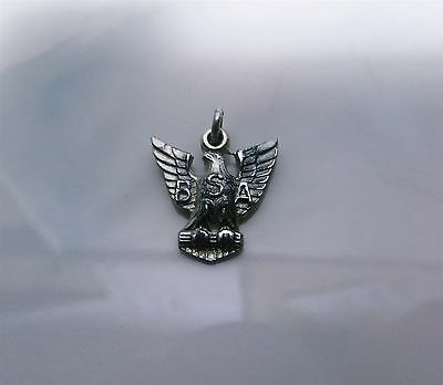 Vintage Boy Scouts Of America Eagle Scout Pendant Sterling Silver