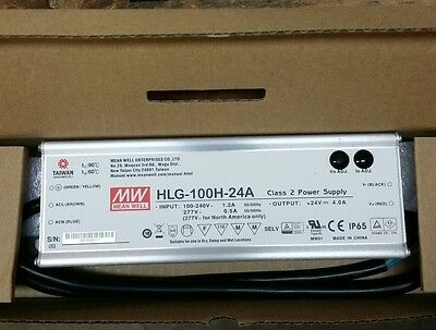 Mean Well HLG-100H-24A CLASS 2 POWER SUPPLY 24VDC