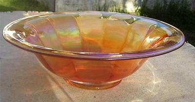 Pretty Vintage Marigold Carnival Glass Fluted Salad Or Fruit Bowl