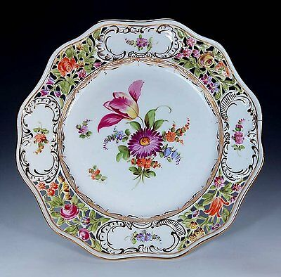 "Antique Dresden Reticulated Hand Painted Carl Thieme 9"" 3/4"" Plate!"