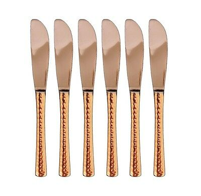 Handmade Pure Copper Steel Knife Kitchenware Gift Set of 6 Eco-friendly India