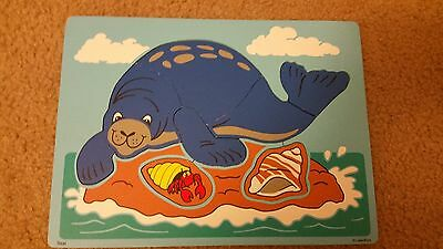 Lakeshore Seal Wooden Puzzle 8 pieces