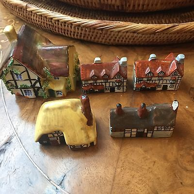 Old English Staffordshire Miniature Country Cottages Shakespeare