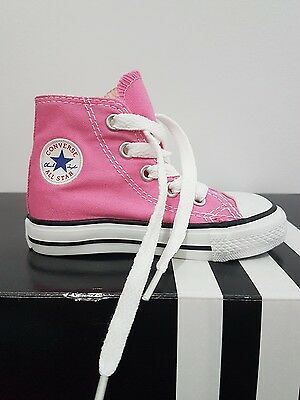 CONVERSE AUTHENTIC size UK 5 TODDLER hightop PINK shoe sneaker