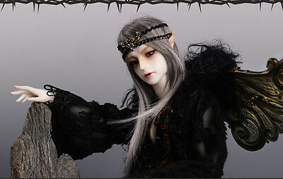 1/4 bjd doll dolls elf boy with wing and the elf feet animal body +face make up