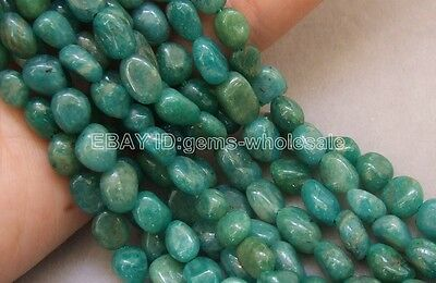 Russian Amazonite 6x8mm Nugget Beads