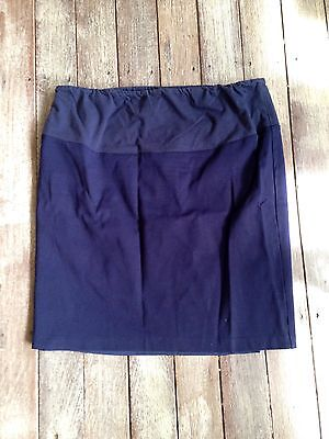 Ladies Angel Maternity Skirt Sz Large Navy Blue Lined