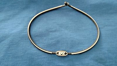 EFX Bracelet Wristband Golf /Bowling/Sports/Authentic! BLACK/WHITE NECKLACE 20""