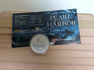 5 X 1 Oz Silver Argent Silber Coin 0,9999 Tuvalu Pearl Harbor