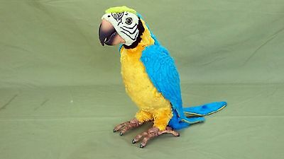 FurReal Friends Blue and Gold Squawkers Macaw Talking Interactive Bird Pet Works