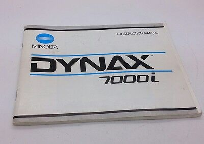 Minolta DYNAX 7000i  camera ORIGINAL instruction manual