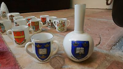 2  Goss Crested China Oxford University