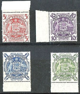 AUSTRALIA 1948 Arms High Values set of 4 SG 224a-224d  UNMOUNTED/MNH  LOW START