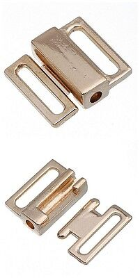 20 Gold Tone Metal Closure Waist Extender Hooks & Eyes Connectors Clasps Sewing