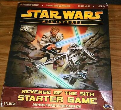 STAR WARS Miniatures Revenge of the Sith Starter Board Game COMPLETE. Wotwc d20