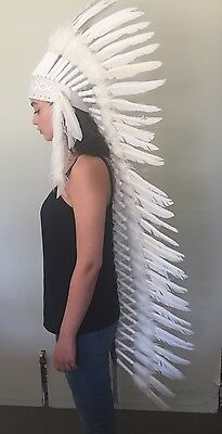 Indian Headdress Feather/war Bonnet Deluxe..Costume Party Dress Up (no 2)