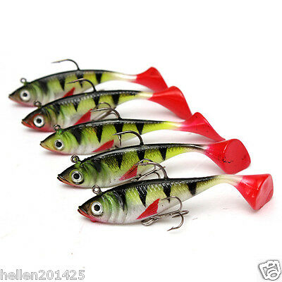 10pcs/Lot Soft Lead Minnow Fishing Lure Tackle Rubber Silicone Bait CrankBait