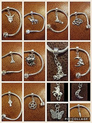 Silver Hanging Charms For European Charm Bracelets