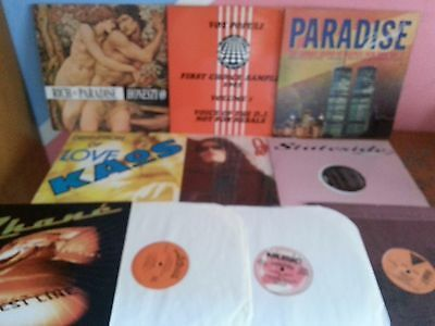 "Lotto 10 Dischi In Vinile Mix 12"" Dj Deep House - Classic - Garage 80-90"