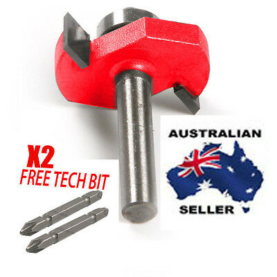 """Slot Cutter/ biscuit joiner Router Bit 4.7 mm 1/4'' x3/16"""" WITH X2 FREE TECH BIT"""